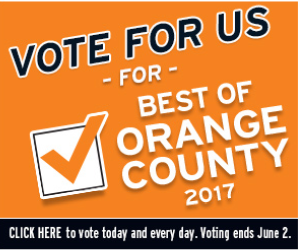 "Vote For Us ""Best Of Orange County 2017"""